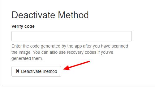 deactivate 2fa