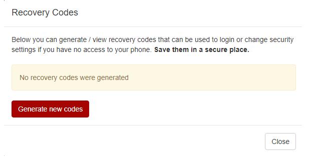 generate new codes