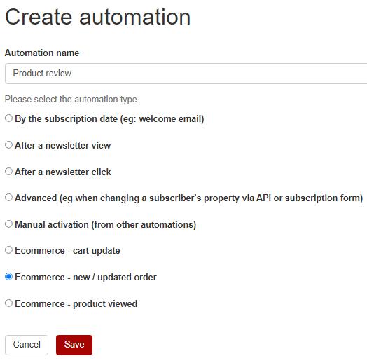 create automation